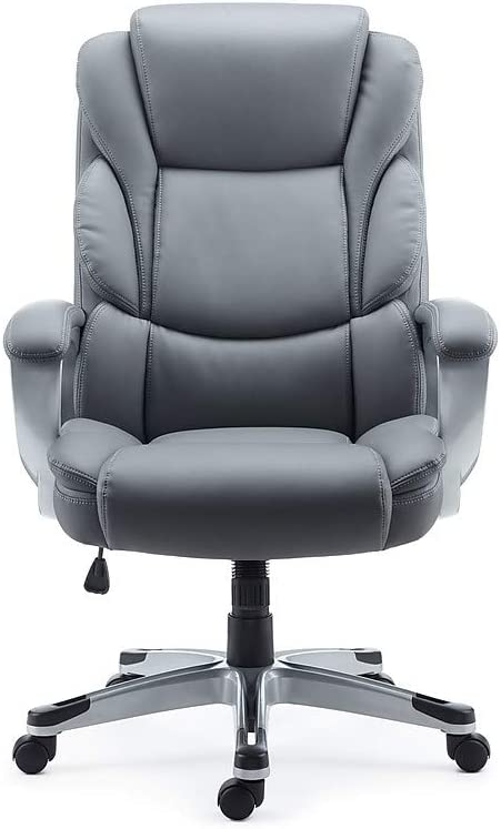 Amazon Com Staples 2712527 Mcallum Bonded Leather Managers Chair Gray Furniture Decor