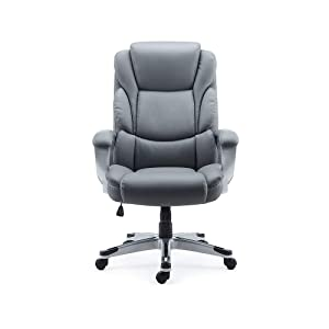 Staples 2712527 Mcallum Bonded Leather Managers Chair Gray