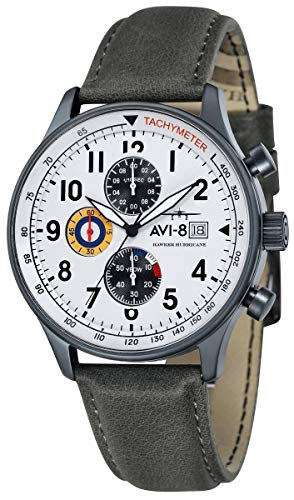 (AVI-8 Mens Hawker Hurricane Watch - Grey/White)