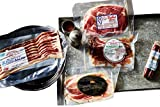 Carnivore Club Gift Box (Gourmet Food Gift) - Father s Day Gift - Food Basket - Ham & Bacon - Comes in a Premium Gift Box – 5 Meats Sampler From Johnston County Hams - Great Gift For Men & Women