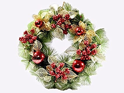 Buy VCK Red Christmas Wreath Online at Low Prices in India - Amazon.in