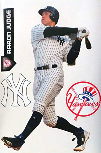 FATHEAD Aaron Judge New York Yankees Logo Set Official MLB Peel and Stick Vinyl Wall Graphics 17