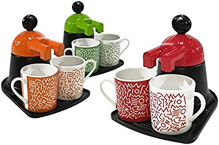 BuyStar - Cafetera Mini Express con 2 Tazas de cerámica, Colores Surtidos: Amazon.es: Hogar