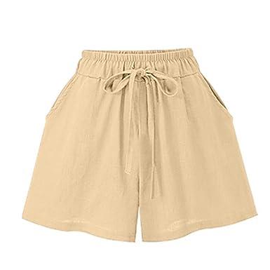 BeautyTop Pantalons Fille Femmes LâChes Taille Bandage Solide Grande Bande  Lettre Hot Pants Shorts Jersey Yoga Floral Stripe Pantalon Courts Beach  Sport ... 8a167a7ca293