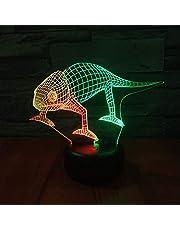 Dwukolorowa lampka nocna LED 3D, kreatywna lampka nocna, ładowana dotykowo stereo, atmosfera, światło na prezent