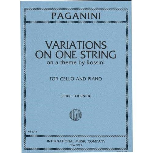 Paganini: Variations on One String on Theme by Rossini for Cello and Piano (Rossini Theme And Variations)