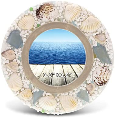 CoTa Global Oceanic Nautical Intricate Sea Shell Wooden Photo Frame 6 x 4 Ocean /& Sea Life Themed Tabletop Photo Frame Unique Handcrafted Hand-Painted Home Accent Accessories Party Centerpiece