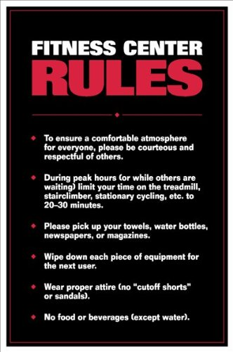 Gym rules and regulations in india zenfitt