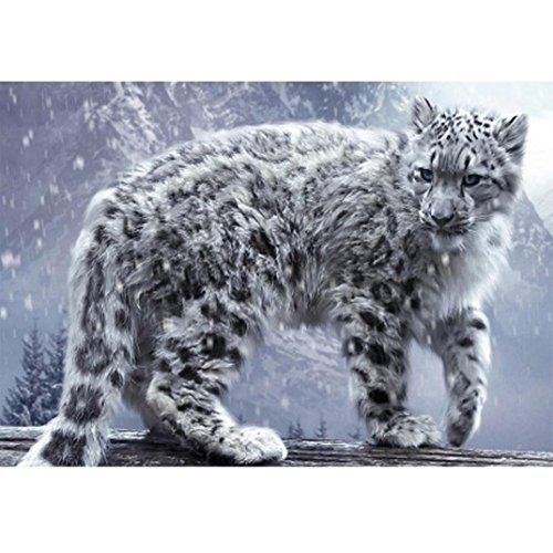 (Lavany 5D Diamond Painting Kit,Snow Leopard,Full Drill Clearance DIY Cross Stitch 5D Paintings Crystal Rhinestone Embroidery Cross-Stitch Stamped Kits (Snow Leopard❤40X30cm) )
