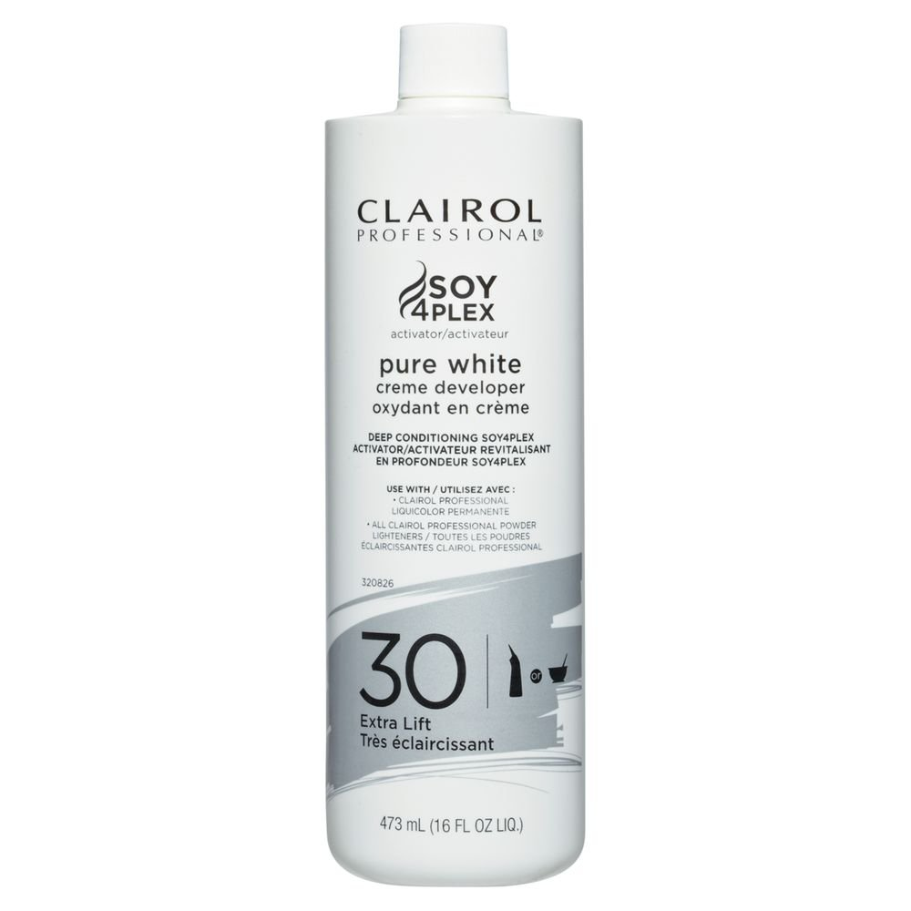 Clairol Professional Soy4plex Pure White Creme Hair Color Developer, 30 Volume