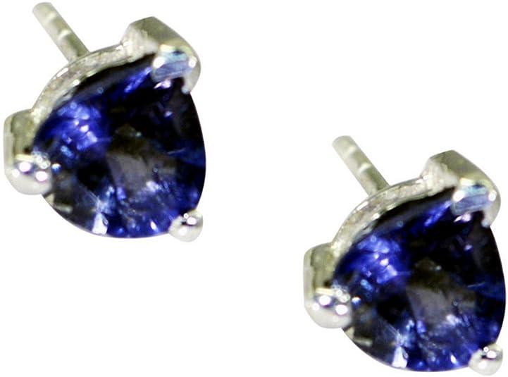 ae5014 925 Sterling Silver Handmade Designer Pretty Earring Jewelry Length 1.75 Iolite Oval Shape Gemstone Earring For Easter Sale