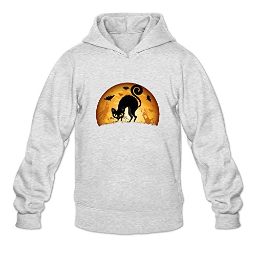 JUST Women's Costumes Happy Halloween Cute Black Cat Hoodies -