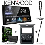 Kenwood DMX7705S 6.95†Media Receiver, Apple CarPlay and Android Auto, iDatalink KIT-F150 Dashkit for Select Ford F-150, ADS-MRR Interface Module and BAA21 Antenna Adapter and a SOTS Lanyard For Sale