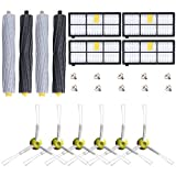 Replacement Accessories Replenishment Kit for Irobot Roomba 800&900 with Tangle-Free Debris Extractor Set & Side Brush & Hepa Filter For Compatible with iRobot Roomba 800 series 805 850 860 870 871 880 980