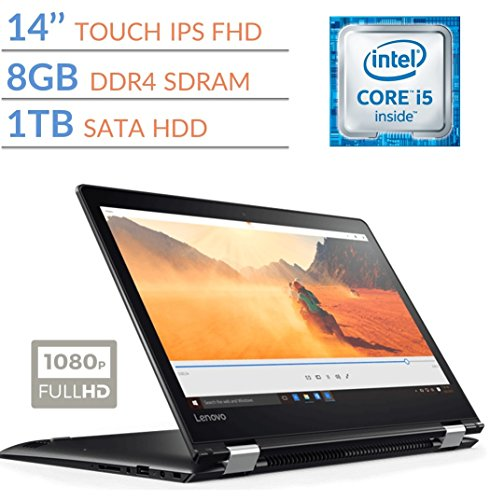 Premium Lenovo Flex 4 14 2-in-1 Touch FHD (1920 x 1080) IPS Display Laptop PC, Intel Core i5-6200U 2.3GHz, 8GB DDR4 SDRAM, 1TB HDD, Bluetooth 4.1, 802.11ac WIFI, HDMI, Windows 10 Home