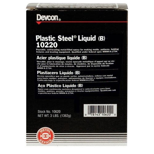 DEVCON Plastic Steel Liquid (B) - MODEL : 10220 Container Size: 4 lbs.