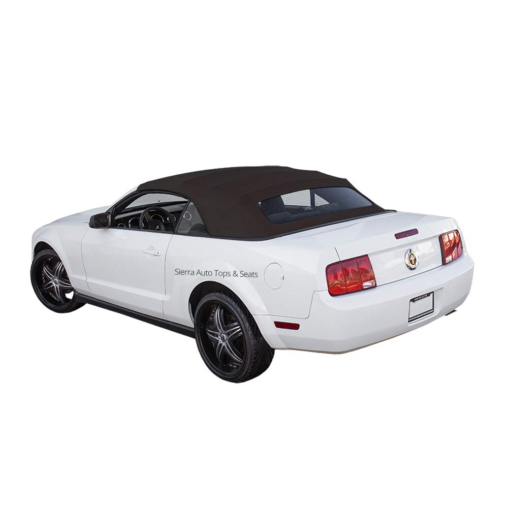 Amazon com sierra auto tops ford mustang convertible soft top replacement all models fits 2005 2014 sailcloth vinyl black automotive