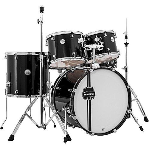 mapex-vr5254tdkzz-voyager-standard-5-piece-drum-set-with-cymbals-black