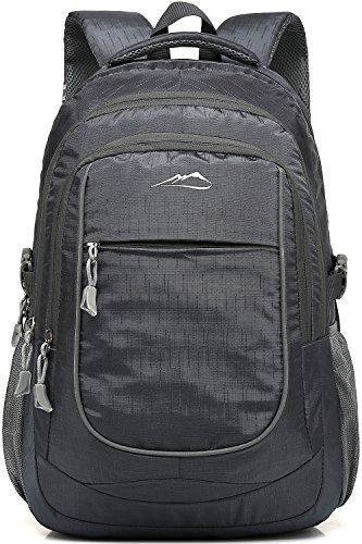 ProEtrade Water Resistant Travel Outdoor Laptop college School backpack daypack (Grey A) by ProEtrade