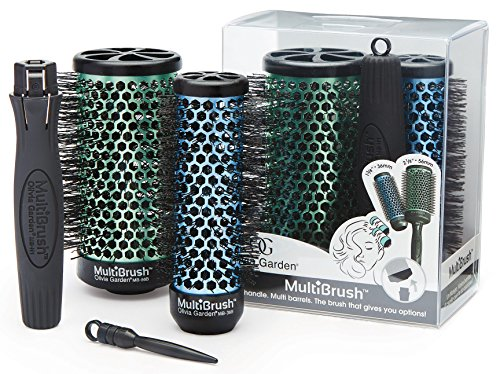 Olivia Garden MultiBrush Detachable Thermal Styling Hair Brush MB-KT01 (3-Piece Kit) (Detachable Brush)