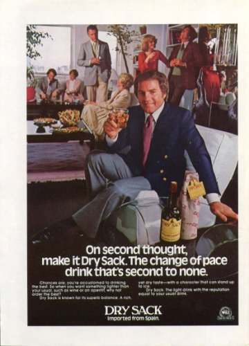 - Frank Gifford for Dry Sack Sherry ad 1979