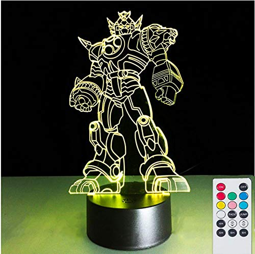 (Autobots 3D Visual Lamps Nightlight for Kids, 7 Colors USB Touch Switch& Remote Control Table Desk Lamps Holiday Xmas Gifts)