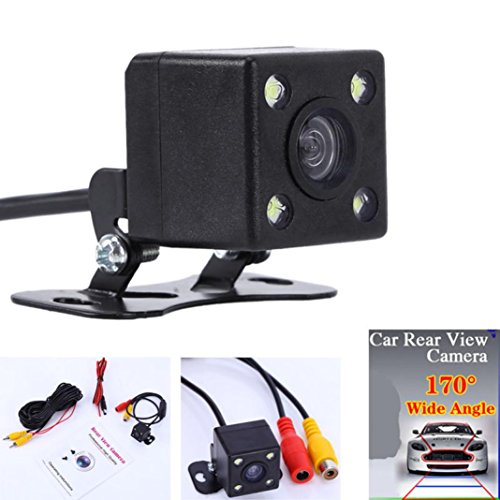 Fabal Waterproof 170 CCD Car Rear View Reserve Backup Parking Camera IR Night Vision (Black)