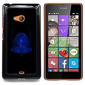 - Blue Abstract/ Duro Snap en el tel????fono celular de la cubierta - Cao - For Microsoft Nokia Lumia 540 N540