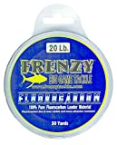 Frenzy 20-Pound Fluorocarbon Leader, 50-Yards, Clear