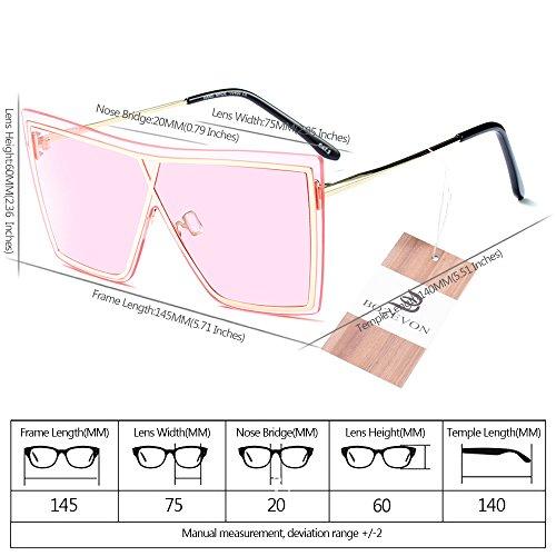 Hombre Mujer para Gafas de y estilo de 06 sol Unisex BOZEVON UV400 Verano Último Estilo zwqPHzC