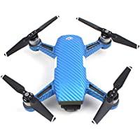 Sunnylife PVC Carbon Fiber Blue Graphic Decals Stickers Waterproof Skin for Spark
