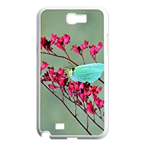 Butterfly Customized Case for Samsung Galaxy Note 2 N7100, New Printed Butterfly Case