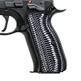 (US) Cool Hand G10 Grips for CZ 75 Full Size, OPS Texture,White/Black G10, Brand