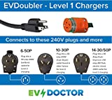EVDOUBLER-1030 - Amazing Power Doubling Adapter for Bolt, Volt, Ford, Chrysler or FIAT Electric Vehicle Car Chargers. Plug 120V charger into a 240V 10-30 'Dryer' outlet. (or 650, 1450, other)