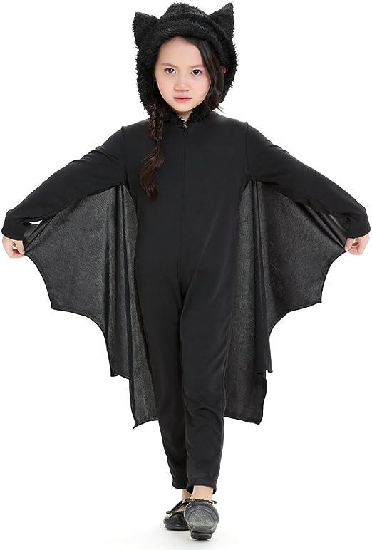 KIOPS Batman Disfraz Nino,Halloween Disfraz Murcielago Niña Mono ...