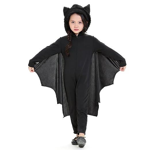 Berkemoon - Disfraz de murciélago para niños con Capucha y Guantes ...