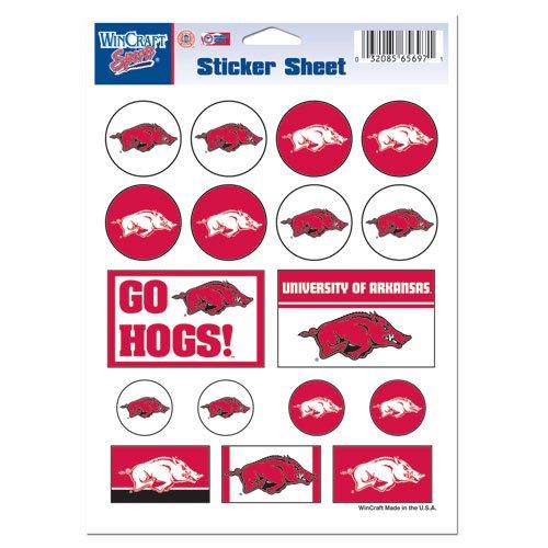 NCAA University of Arkansas Vinyl Sticker Sheet, 5