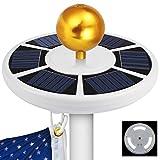 Olssda Solar Flag Pole Lights 42 LED IP65 Waterproof Flag Pole Lights Solar Powered for Most 15 to 25 Ft Dusk to Dawn Auto On/Off Night Lighting