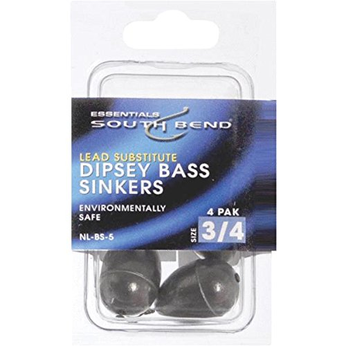 South Bend Bass Sinker - South Bend Non-Lead Dipsey Bass Casting Sinker, 6