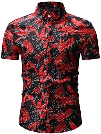 LFNANYI Camisa Estampada Hoja 3D Hombres Verano Nueva Camisa Hawaiana de Manga Corta para Hombre Camisas de Vestir con Botones Casual para Vacaciones 3XL: Amazon.es: Deportes y aire libre