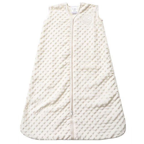 HALO SleepSack Wearable Blanket, Velboa, Cream Plush Dots, Large by Halo
