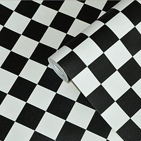 Loaest Korean Waterproof Black And White Square Wallpaper