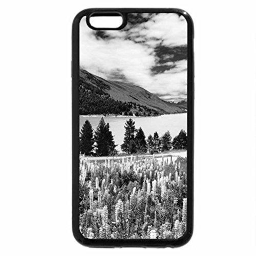 iPhone 6S Plus Case, iPhone 6 Plus Case (Black & White) - Flowers at Lake