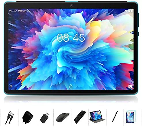 "Android 10.0 Tablet : MEBERRY 10"" Ultra-Fast 4GB/RAM,64GB/ROM Tablets-8000mAh Battery-WiFi Support - Bluetooth Keyboard 