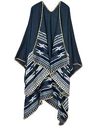 VamJump Women Cashmere Oversized Blanket Poncho Cape...