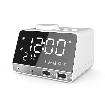 GuDoQi Digital Despertador Reloj Radio FM Alarma Inteligente ...