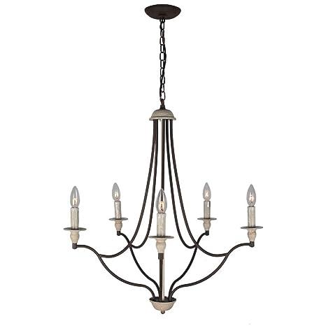 Amazon.com: Baiwaiz - Lámpara de araña rústica, BW17098 ...