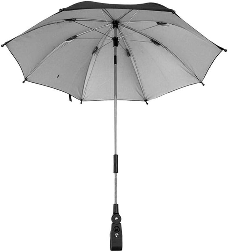 per Paraguas para sillas de Paseo Universal para beb/és y beb/és UV Protecci/ón Solar Paraguas Clip a Prueba de Sol Piezas y Accesorios de sillas