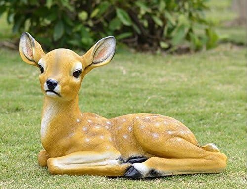 adzll Plum,, diseño de ciervo, resina adornos, jardín al aire ...
