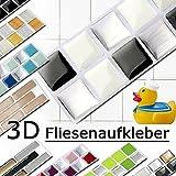 Grandora w5288 Mosaico adesivo per piastrle effetto 3d-effekt grande scelta Adesivo da muro cucina bagno decorazione piastrelle Pellicola AUTOADESIVO - COME SELEZIONATO, Design 3